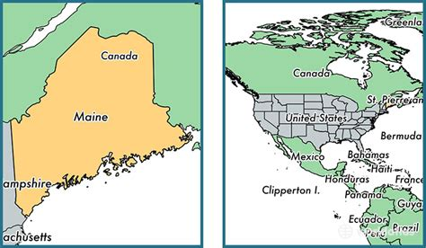 maine on map where is maine state where is maine located in the