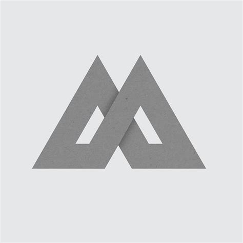 triangle pattern logo triangle m logo of triangular design pinterest logos