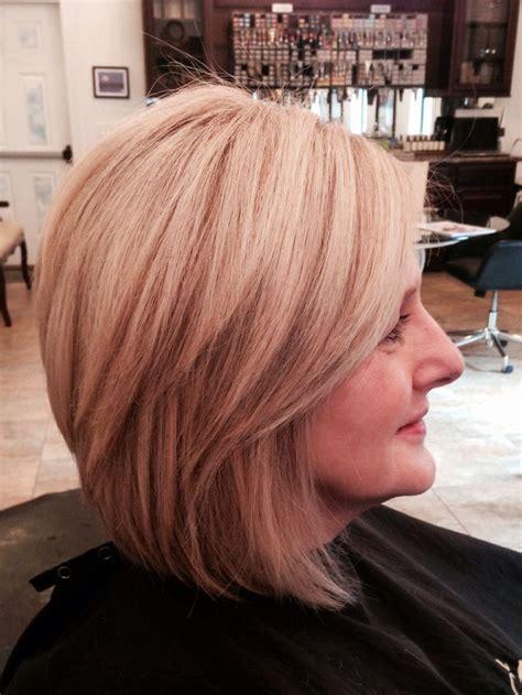 meium length beige blonde hairstyles medium stacked haircut beige blonde hairrr pinterest