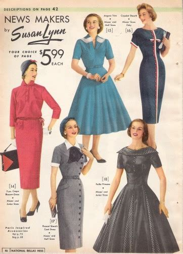 what did wear in the 1950s