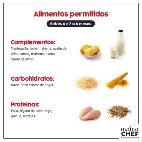 alimentos permitidos complementos papillas papilla bebes  meses mama chef colette olaechea