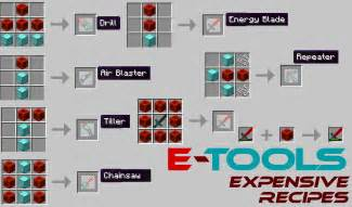 Tools redstone powered tools armor tools and weapons