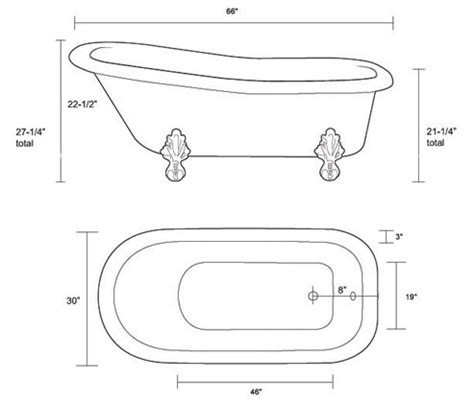 what is the size of a bathtub what is the size of a bathtub restoria imperial classic slipper clawfoot tub