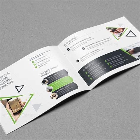 plain brochure template plain landscape brochure template 000558 template catalog