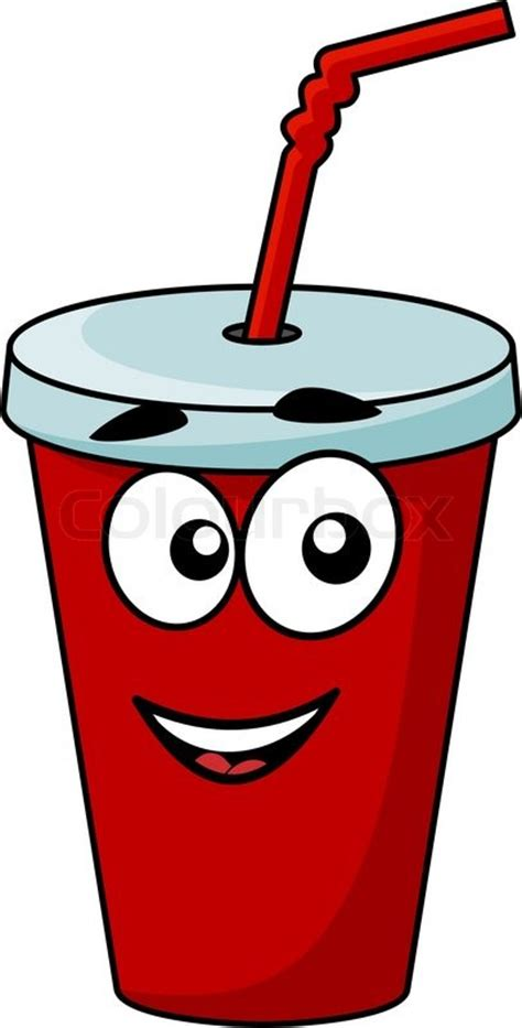 martini cup cartoon cartoon takeaway soda drink in a covered cup with a straw