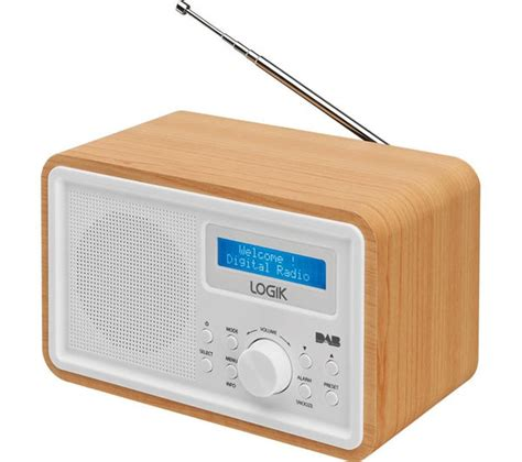 l radio alarm clock buy logik lhdr15 portable dab fm clock radio light wood