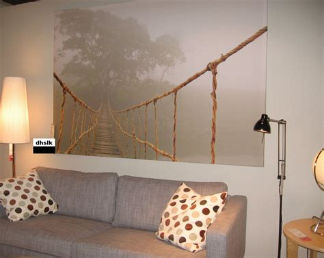 10 Gorgeous Wall Hangings From Ikea by Canvas Print Ideas Ikea Suspension Rope Bridge Jungle