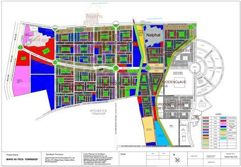 Layout Plan Of Wave City Ghaziabad | wave hitech city ghaziabad builder township near delhi