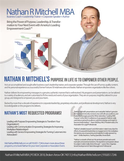 Tulsa Mba by Hire Nathan R Mitchell Mba Leadership Success Speaker In