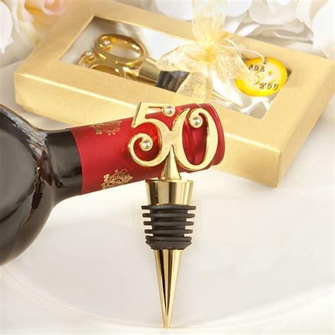 25 jaar getrouwd sieraden gouden 50 wijnstopper jubileum bedankjes