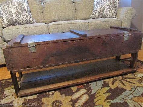 coffee table into repurposed vintage ammo box coffee table my repurposed life 174