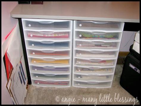 Craft Paper Storage - utilizing a small space as a craft room blissfully domestic