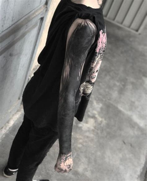 solid black tattoo sleeve 211 best sleeve tattoos ideas for and