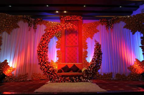 moon and roses inspired wedding stage   Decorations(Stage