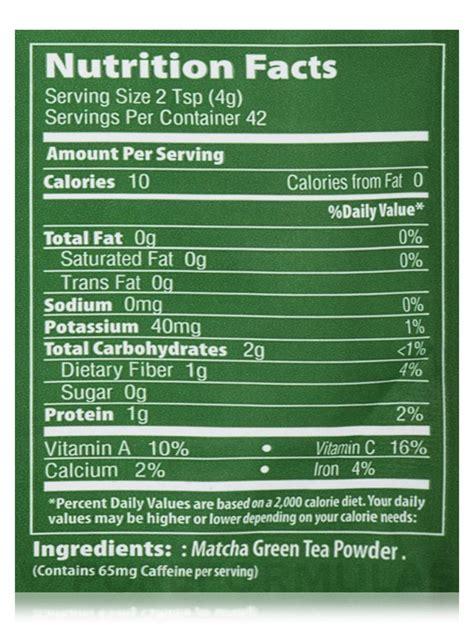 Matcha Powder 900 Gr matcha green tea nutrition label nutrition ftempo