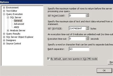 enable layout editing mode using the ssms query editor in sqlcmd mode