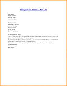 Resignation Letter Format Template General Resume 187 Forms Of Resignation Letter Cover