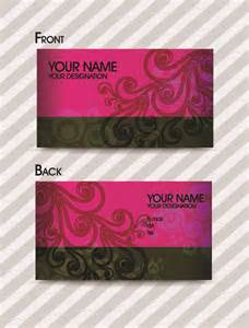 fashion business cards templates free fashion pattern business card template 02 vector free