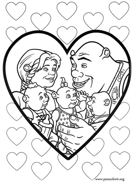 Love Story Coloring Pages | shrek love story coloring pages for kids to print