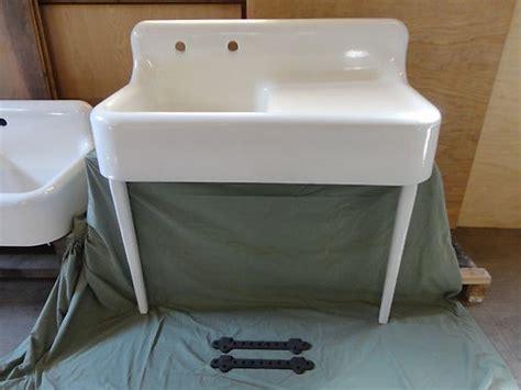 Antique Cast Iron Kitchen Sink With Drainboard Antique Drainboard Cast Iron Farm Farmhouse Kitchen Sink With Legs Vintage