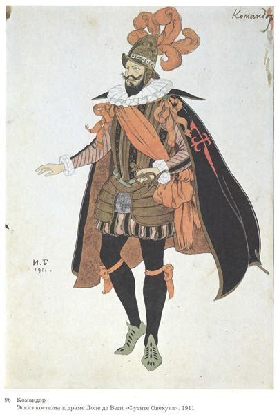 fuente ovejuna costume design for the drama of lope de vega s quot fuente ovejuna quot 1911 ivan bilibin wikiart org