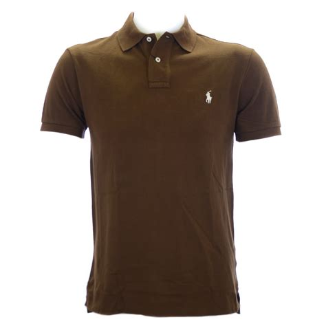 Paolo Moschino by Polo Ralph Lauren Slim Fit Polo Shirt In Soldier Brown