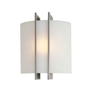 Lite Source Ls 1673 Checks by Lite Source Ls 1673 Polished Steel Frosted Glass Wall
