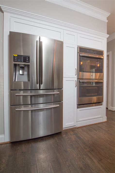 double oven kitchen cabinet new fridge and double oven wall with shaker style panels