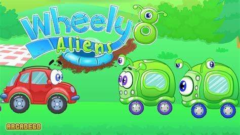 wheely 8 aliens walkthrough all levels youtube