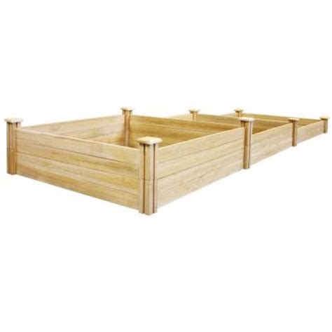 home depot raised bed greenes fence stair step dovetail raised garden bed rc2t10s31b the home depot