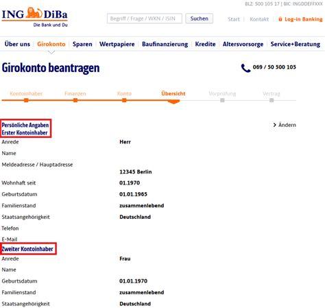 diba bank banking ing diba gemeinschaftskonto er 246 ffnen diba partnerkonto