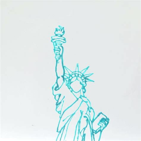 statue of liberty drawing template statue of liberty drawing template