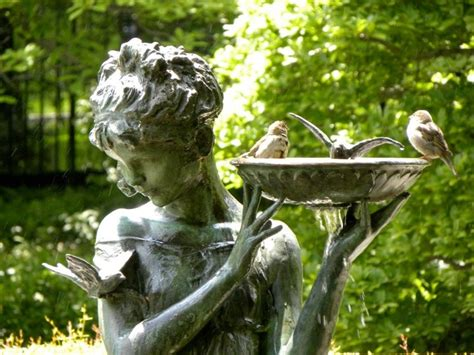 beautiful bird bath ethereal outdoors pinterest