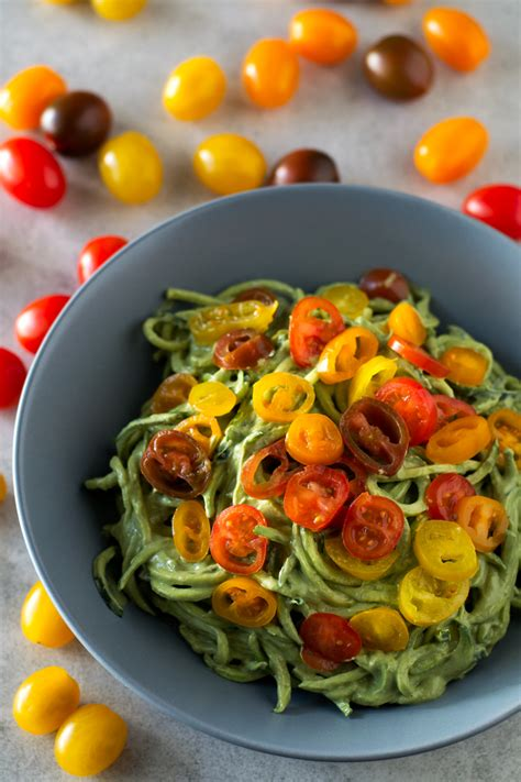 healthy fats besides avocado zucchini noodles with avocado sauce simple vegan