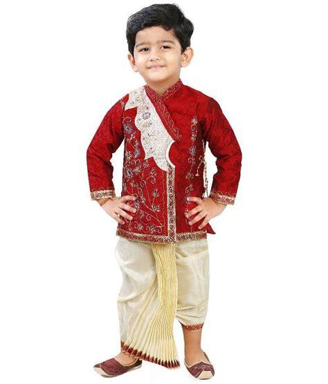 dhoti pattern kurti online ftc red silk dhoti kurta for boys buy ftc red silk dhoti
