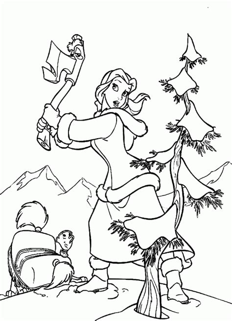 belle christmas coloring pages beauty and the beast coloring book coloring home