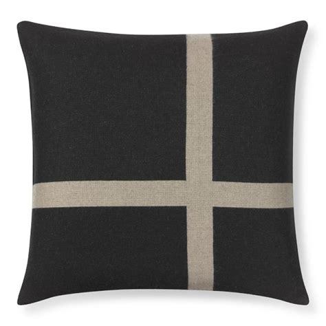Equestrian Pillows by Equestrian Pillow Cover Black Williams Sonoma