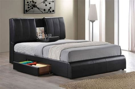 dark finish queen sleigh bed acme furniture kofi black pu finish queen bed with