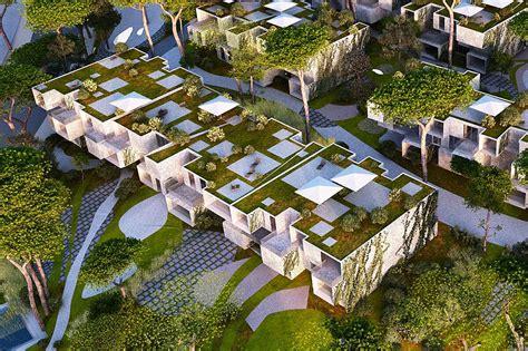 green housing design spectacular green roofed modular tangier bay housing