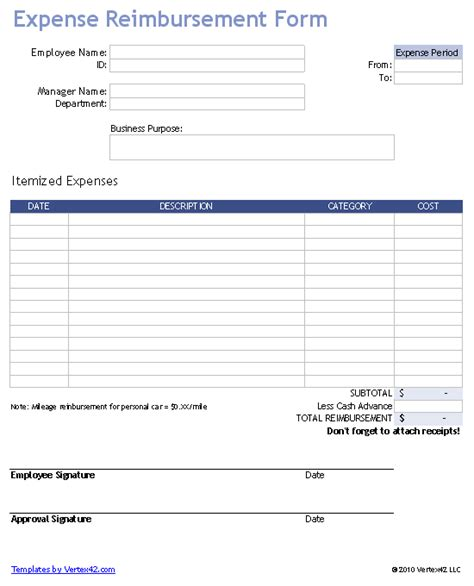 reimburse  employee  business expenses