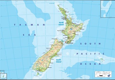 new zealand physical map as ogmn02 new zealand physical map graphic education