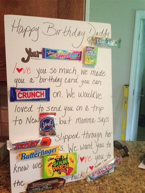 Things To Put In A Birthday Card 25 Best Candy Birthday Cards Ideas On Pinterest
