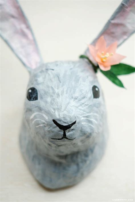 How To Make Paper Mache Animal Heads - paper mache animal heads diy tutorial paper mache