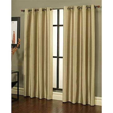 faux silk grommet curtains buy sherry kline faux silk grommet top 84 inch window