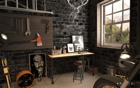 motorcycle home decor vintage motorcycle garage by mitika dimov house design
