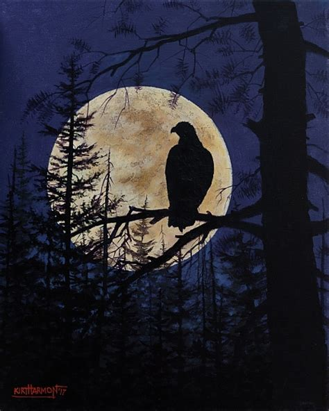 acrylic painting with jerry yarnell nighthawk acrylic on canvas in critters wildlife and birds