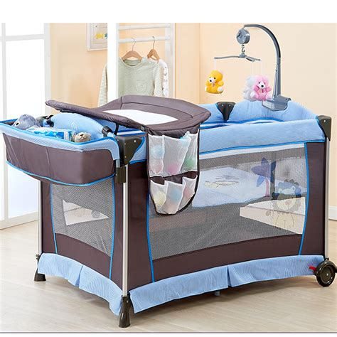 Baby Play Yard With Changing Table Mesh Sided Baby Folding Play Yard With Changing Table
