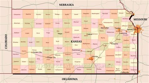map of us states kansas kansas political map kansas map