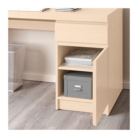 Malm Desk White Stained Oak Veneer 140x65 Cm Ikea White Malm Desk
