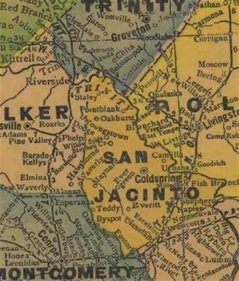 san jacinto texas map san jacinto county texas